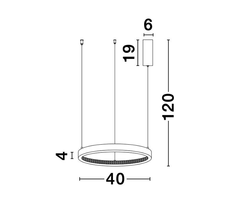 Nova Luce NL-9285401 Preston LED függeszték