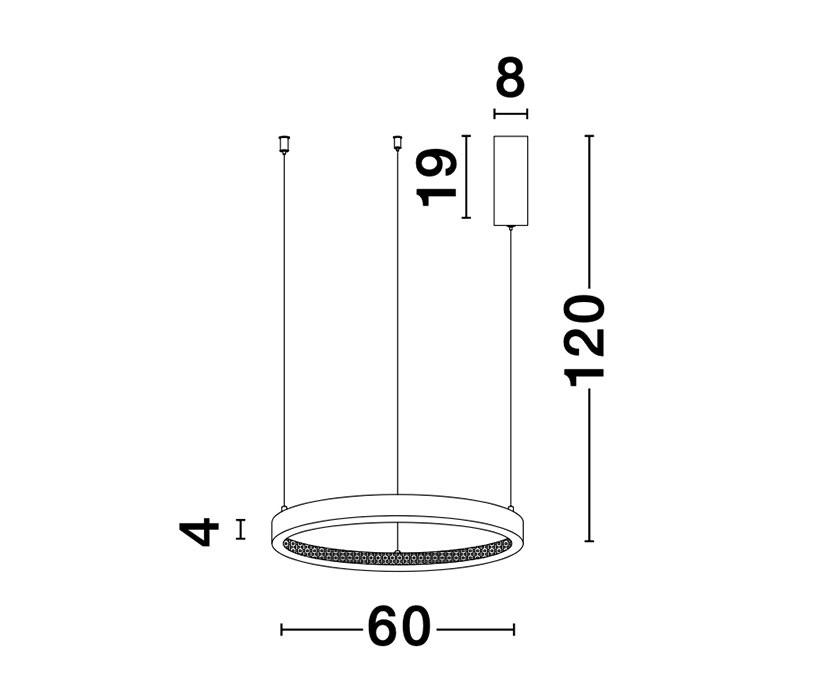 Nova Luce NL-9285601 Preston LED függeszték