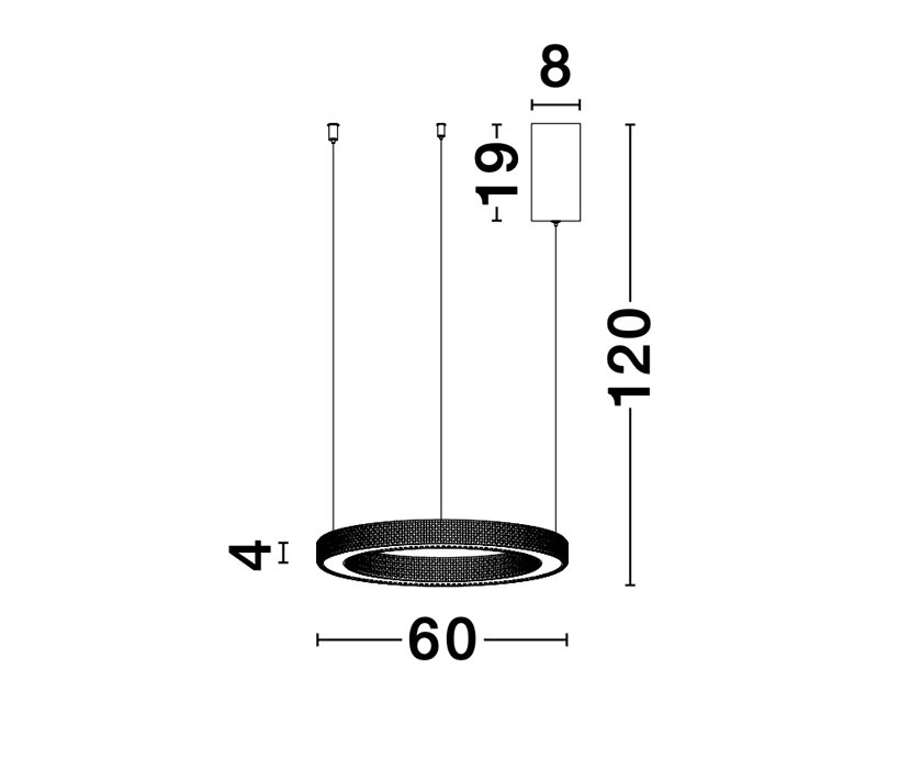 Nova Luce NL-9285610 Fiore LED függeszték