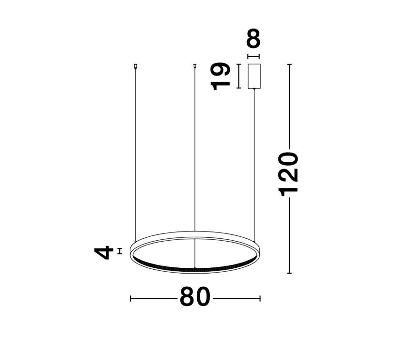 Nova Luce NL-9285801 Preston LED függeszték