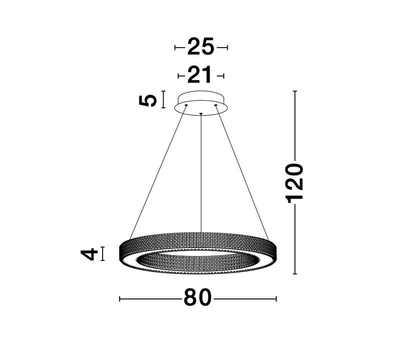 Nova Luce NL-9285810 Fiore LED függeszték
