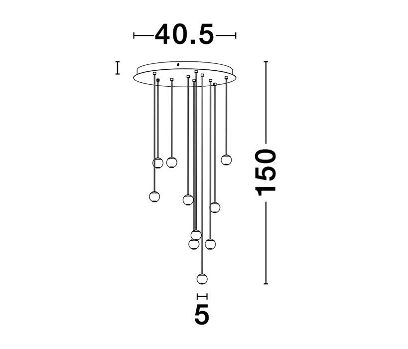 Nova Luce NL-9303952 Nocci LED függeszték