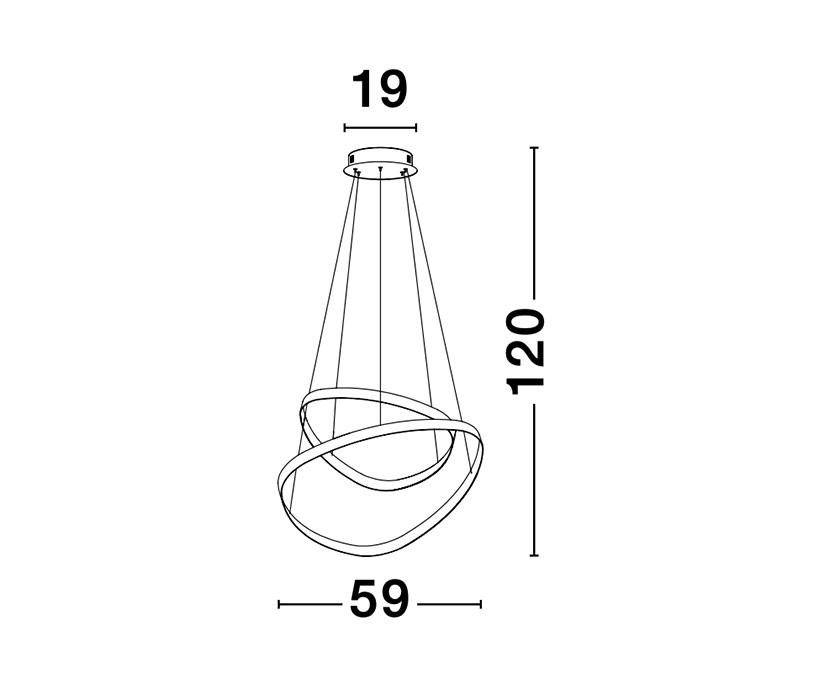 Nova Luce NL-9357061 Aries LED függeszték