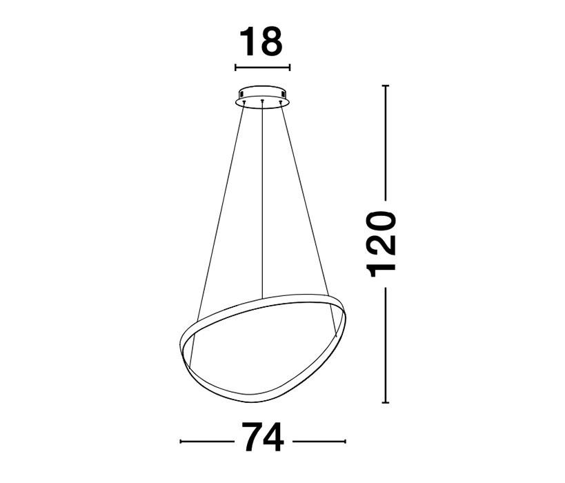 Nova Luce NL-9357062 Aries LED függeszték