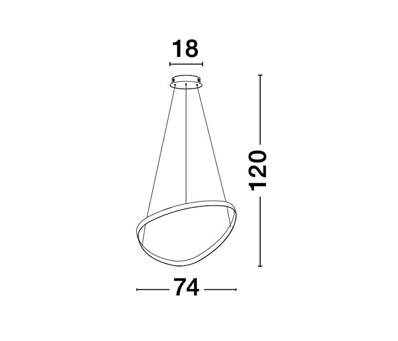Nova Luce NL-9357064 Aries LED függeszték