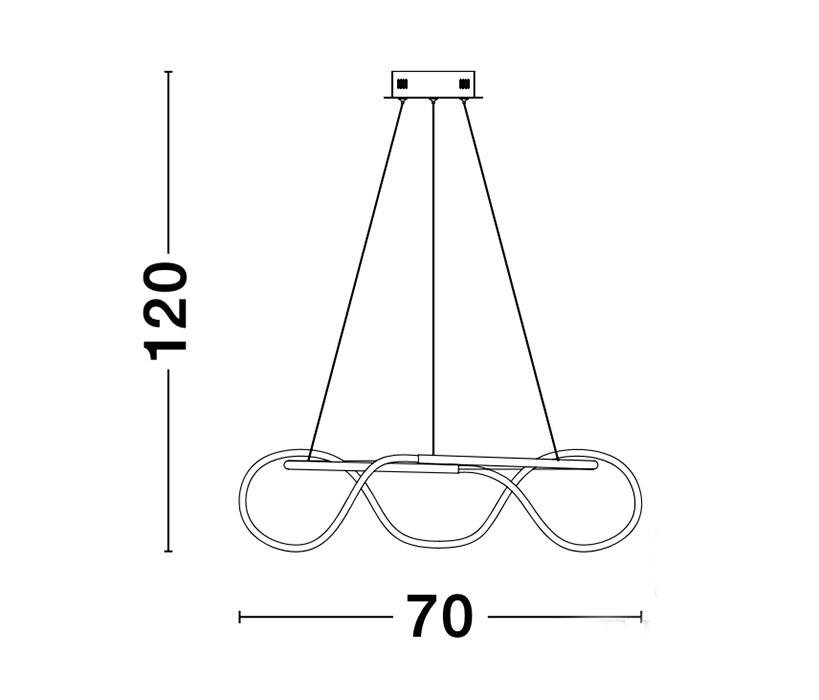 Nova Luce NL-9548104 Tiriac LED függeszték
