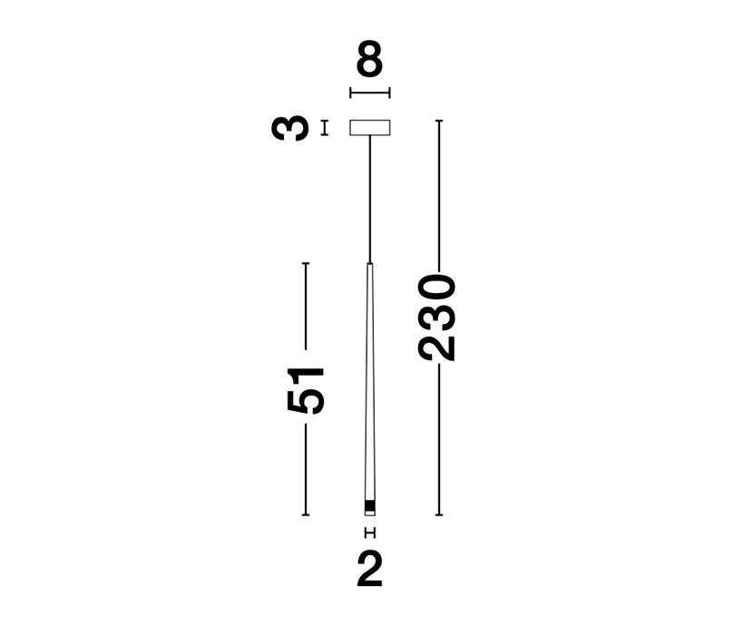 Nova Luce NL-9601001 Giono LED függeszték
