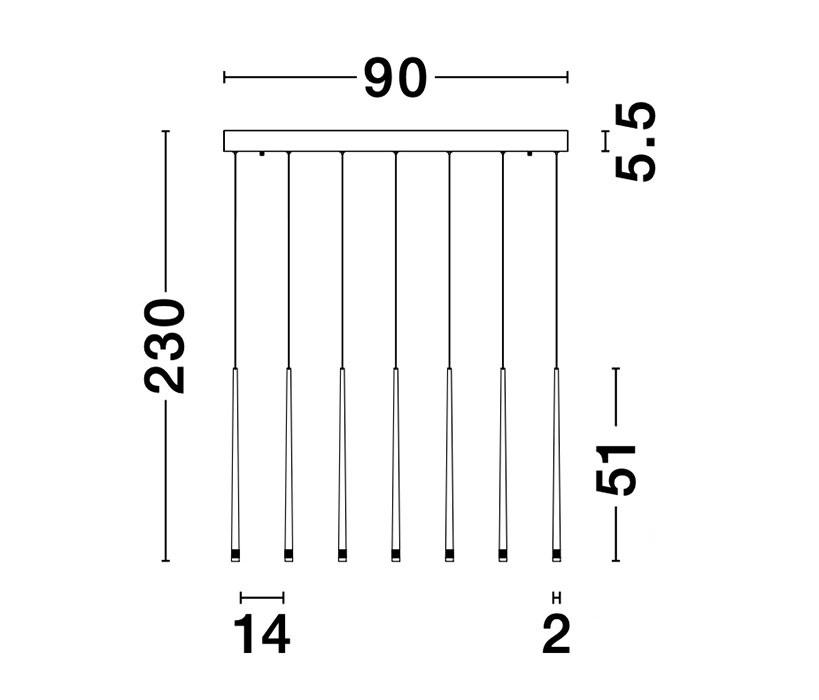 Nova Luce NL-9601007 Giono LED függeszték