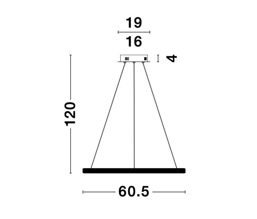 Nova Luce NL-9481091 Nager LED függeszték