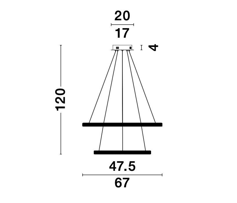 Nova Luce NL-9481092 Nager LED függeszték