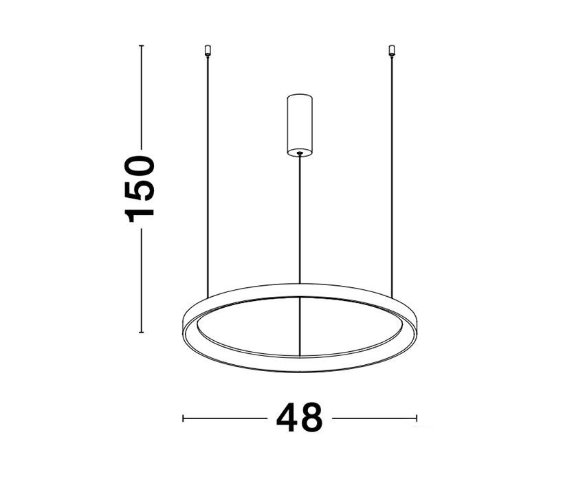 Nova Luce NL-9853682 Pertino LED függeszték