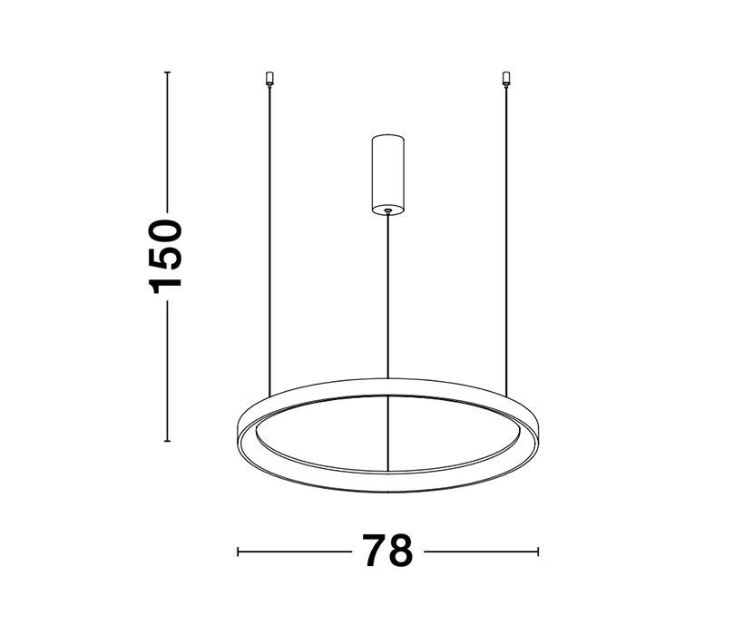 Nova Luce NL-9853685 Pertino LED függeszték
