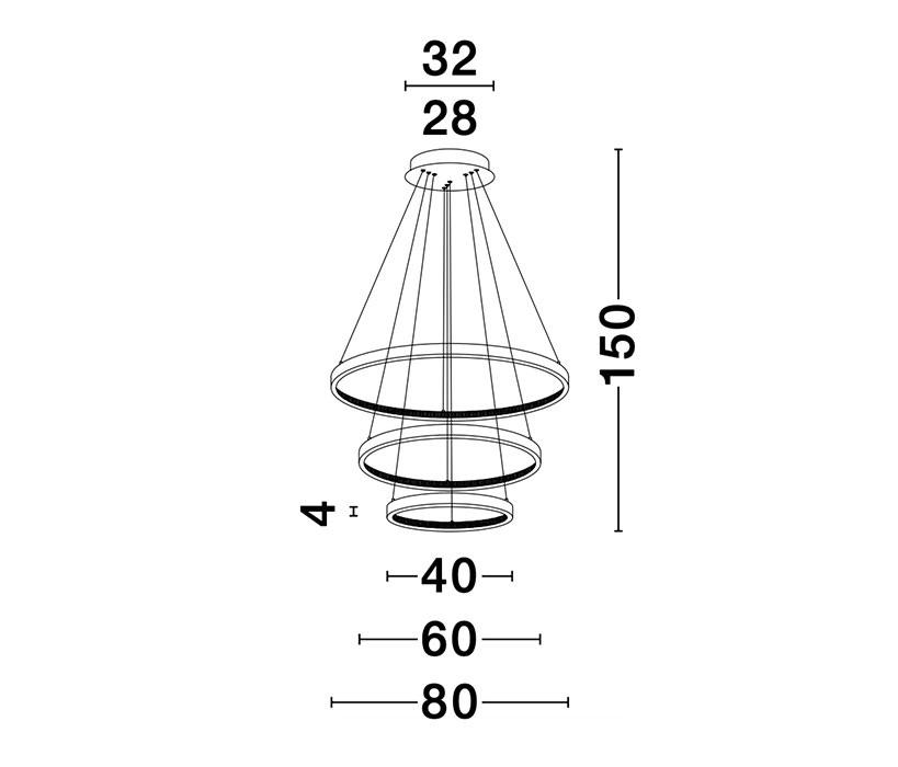 Nova Luce NL-9862853 Preston LED függeszték