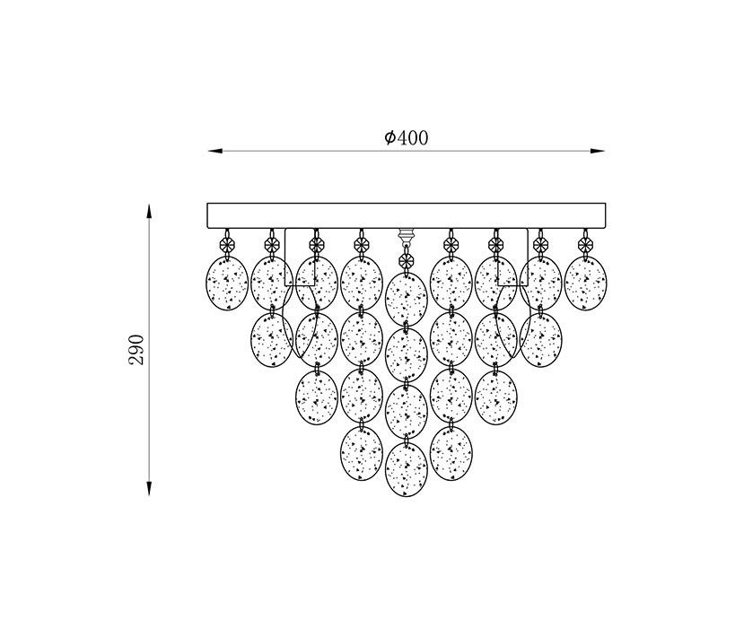 Zuma ZU-18365L Pardo mennyezeti lámpa