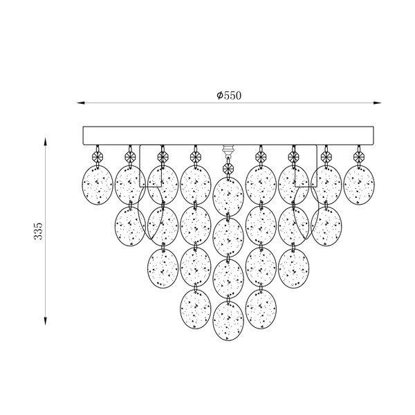 Zuma ZU-18366 Pardo mennyezeti lámpa