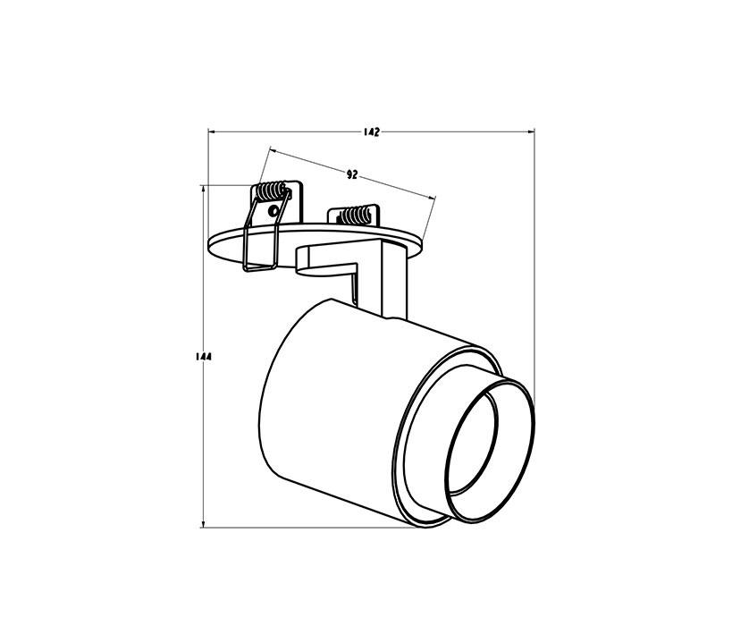 Zuma ZU-ACGU10-151 Scopy beépíthetõ spot lámpa