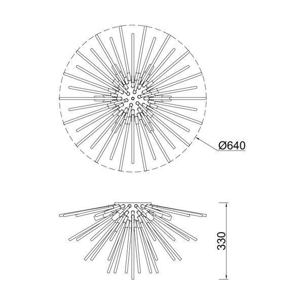 Zuma ZU-C0491-06B-F7DY Urchin mennyezeti lámpa