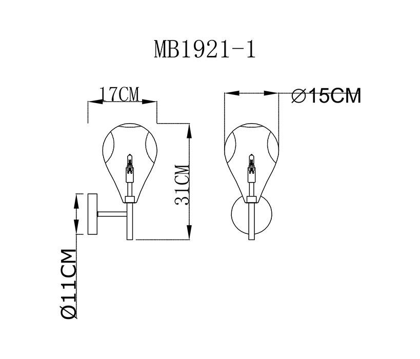 Zuma ZU-MB1921-1-CL Bastoni falikar