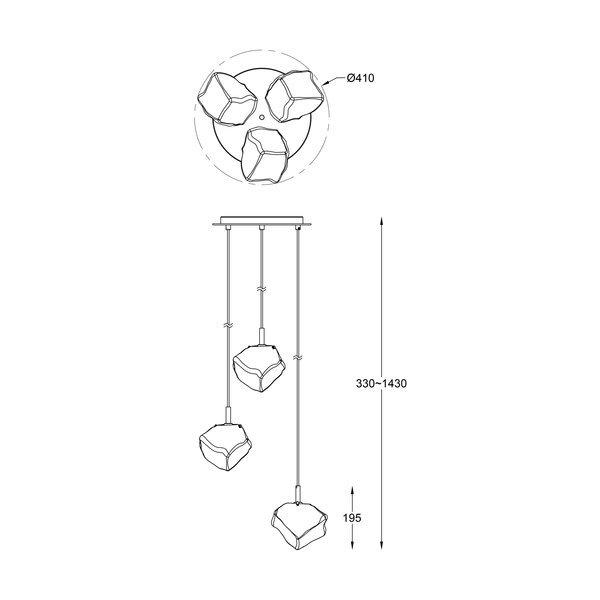 Zuma ZU-P0488-03D-B5FZ Rock függeszték