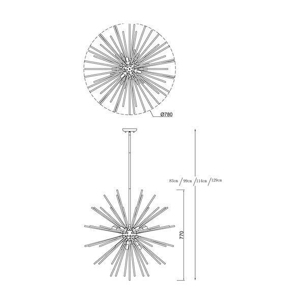 Zuma ZU-P0491-09C-F7DY Urchin 9 izzós függeszték