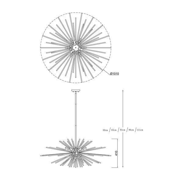 Zuma ZU-P0491-09E-F7DY Urchin függeszték