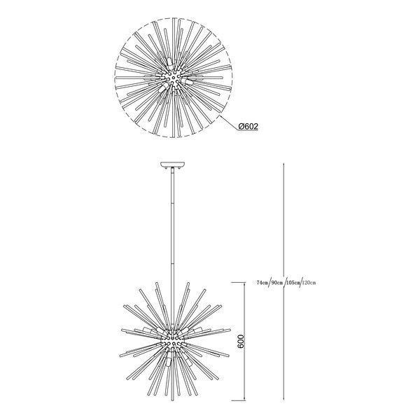 Zuma ZU-P0491-09F-F4AN Urchin 9 izzós függeszték