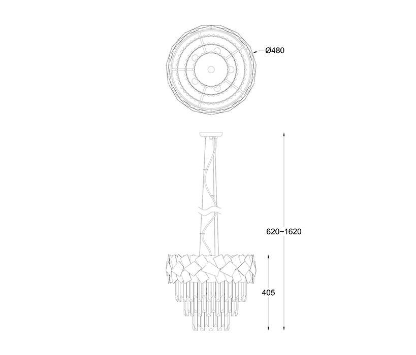 Zuma ZU-P0506-06A-F4E3 Quasar függeszték