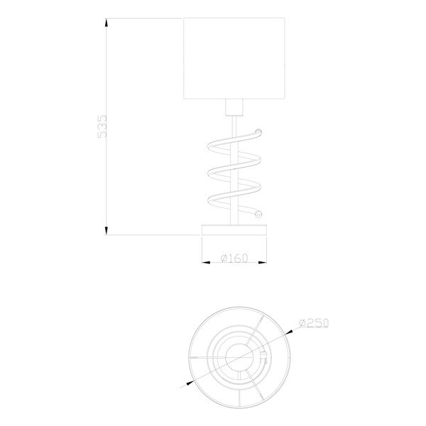 Zuma ZU-TL180515-2 Tina asztali lámpa