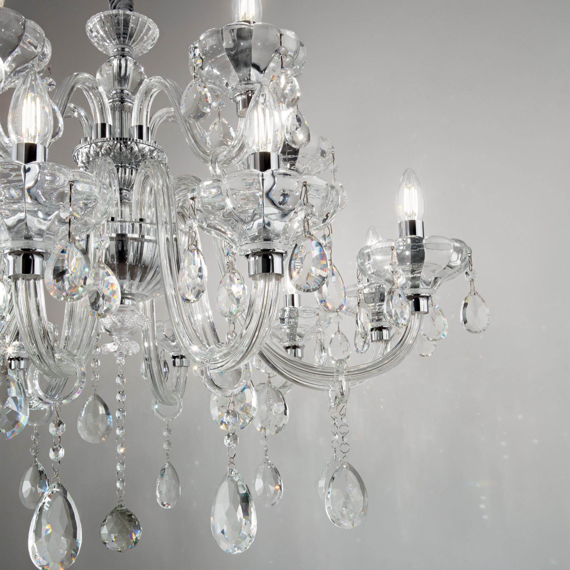 Ideal Lux 207483 CONTINENTAL SP12 kristály függeszték