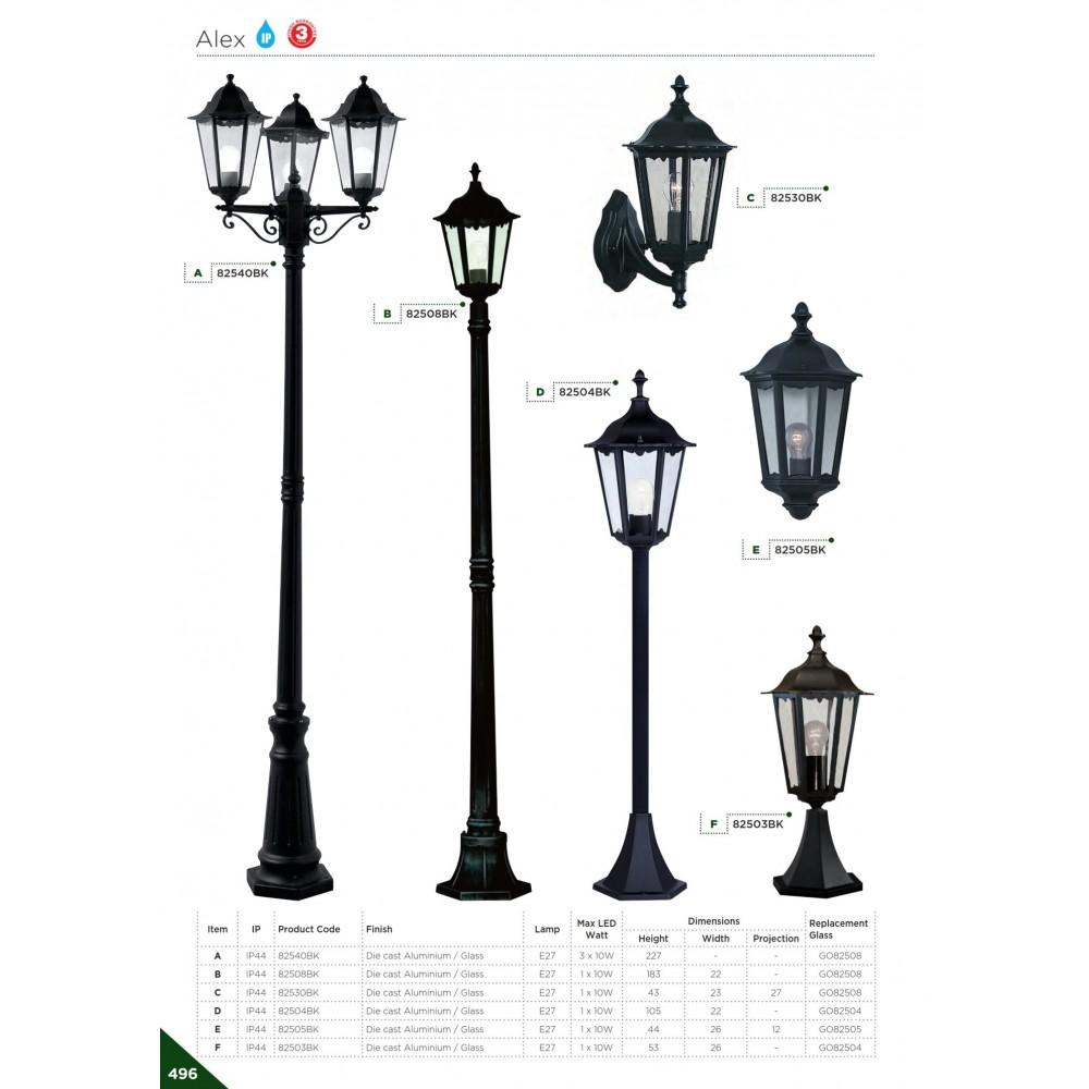 Searchlight Alex 82503BK Kültéri Állólámpa / Searchlight / lámpa