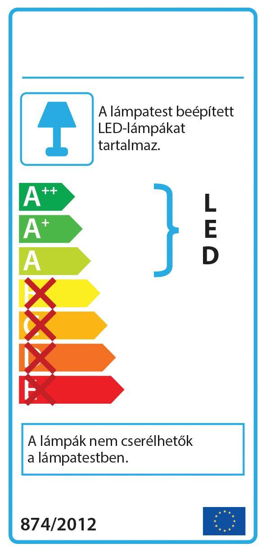 Ideal Lux 173252 DESK AP2 NERO LED falilámpa