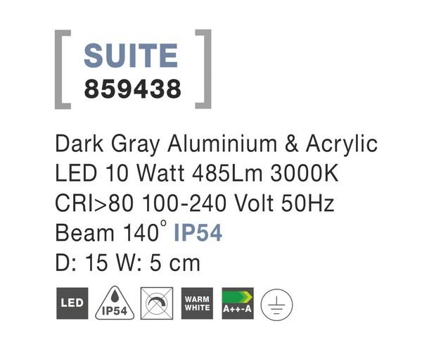 Nova Luce NL-859438 Suite LED kültéri fali lámpa