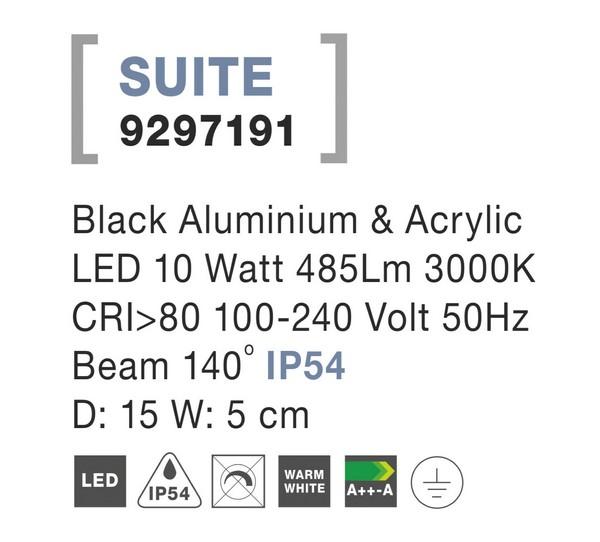 Nova Luce NL-9297191 Suite LED kültéri fali lámpa