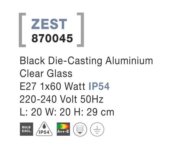 Nova Luce NL-870045 Zest kültéri állólámpa