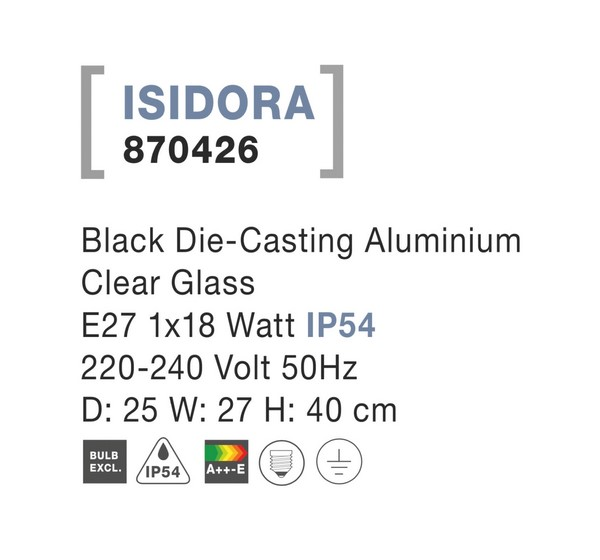 Nova Luce NL-870426 Isidora kültéri falikar