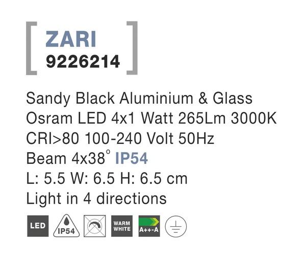 Nova Luce NL-9226214 Zari LED kültéri homlokzatvilágítás