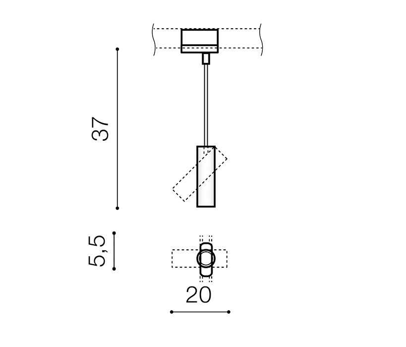 AZzardo AZ-3511 Lens sínrendszeres lámpafej