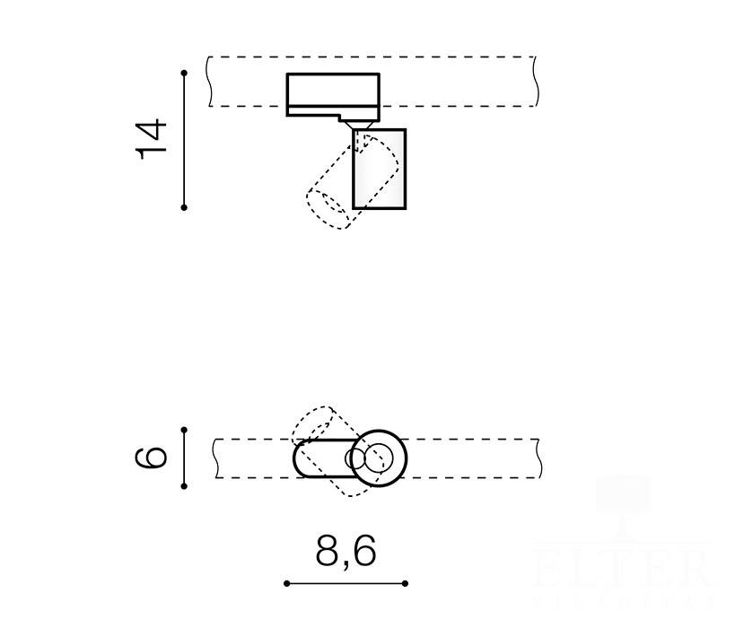 AZzardo AZ-3200 Exo sínrendszeres lámpafej