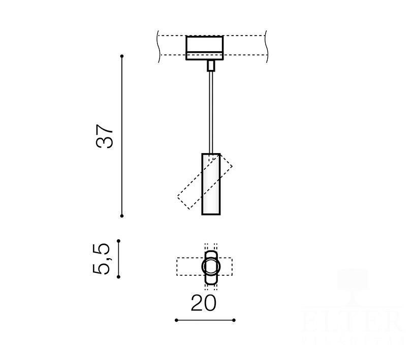 AZzardo AZ-3510 Lens sínrendszeres lámpafej