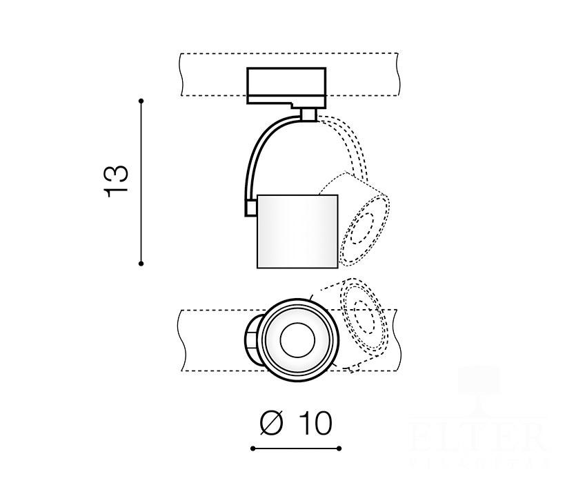 AZzardo AZ-3500 Bross Arm sínrendszeres lámpafej