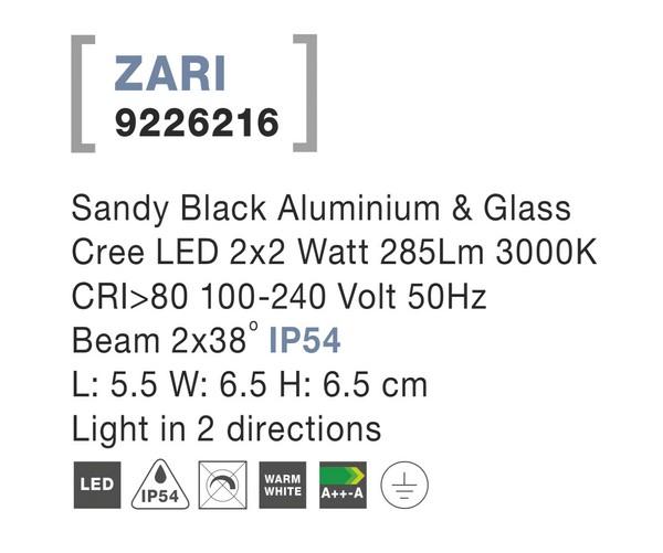 Nova Luce NL-9226216 Zari LED kültéri homlokzatvilágítás