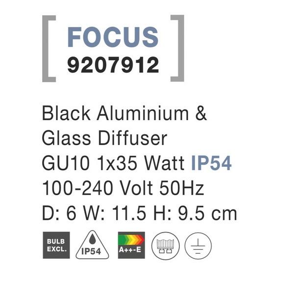 Nova Luce NL-9207912 Focus kültéri fali lámpa