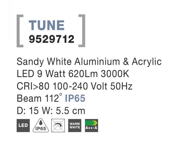 Nova Luce NL-9529712 Tune LED kültéri fali lámpa