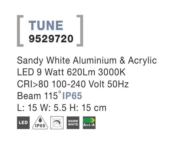 Nova Luce NL-9529720 Tune LED kültéri fali lámpa