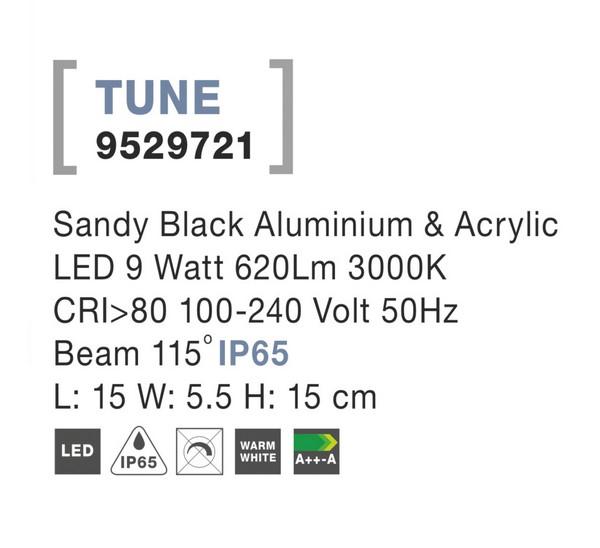 Nova Luce NL-9529721 Tune LED kültéri fali lámpa