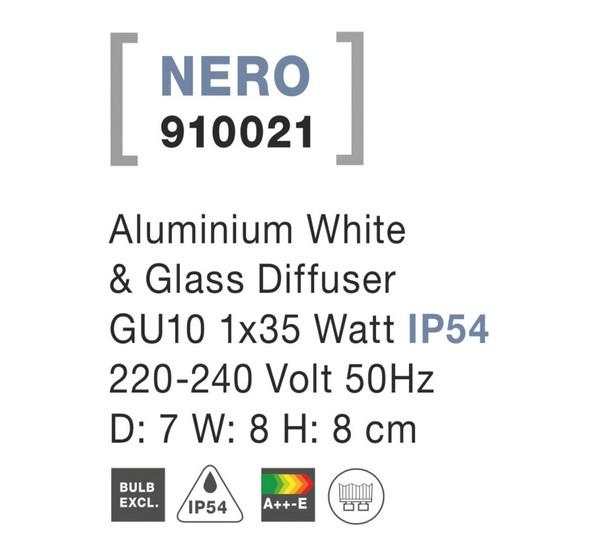 Nova Luce NL-910021 Nero kültéri homlokzatvilágítás