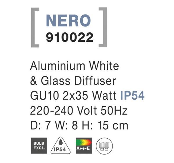 Nova Luce NL-910022 Nero kültéri homlokzatvilágítás