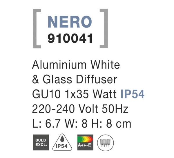 Nova Luce NL-910041 Nero kültéri homlokzatvilágítás