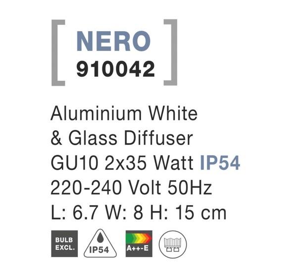Nova Luce NL-910042 Nero kültéri homlokzatvilágítás