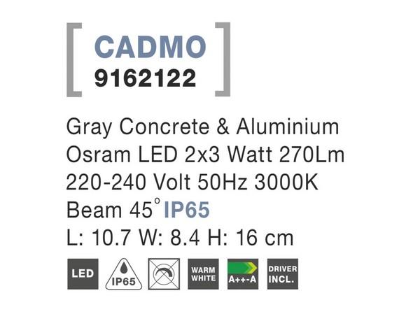 Nova Luce NL-9162122 Cadmo kültéri homlokzatvilágítás